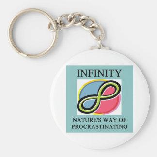 INFINITY math joke Key Ring