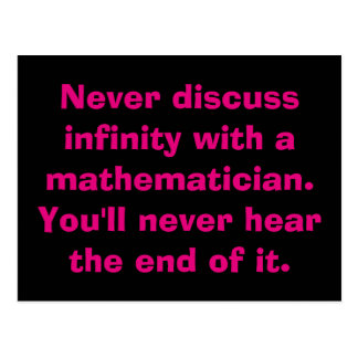 Infinity Math Postcards