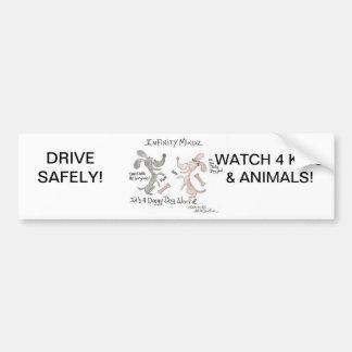 "Infinity Mindz ""It's A Doggy Dog World!"" Car Bumper Sticker"