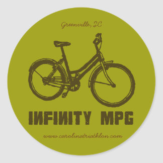 INFINITY MPG brown decal, www.carolinatriathlon.co Classic Round Sticker