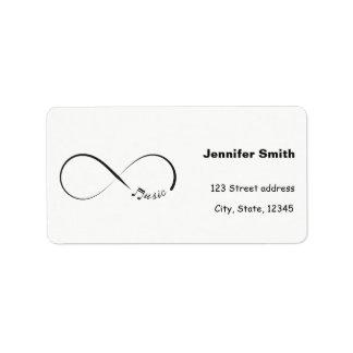 Infinity music symbol label