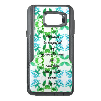 Infinity Rose / Hope Saying Blue & Green Rose OtterBox Samsung Note 5 Case