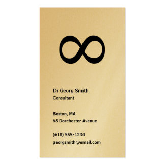 Infinity - Scientist Business Card