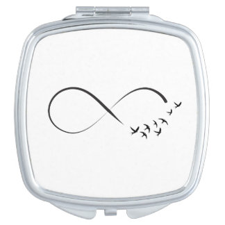 Infinity  swallow symbol vanity mirror