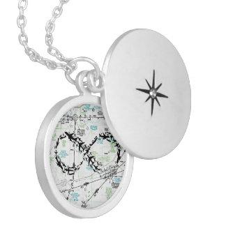 Infinity Symbol, Map Jewelry, Airplane Jewelry