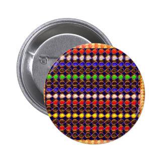 INFINITY Symbol n Gold Sparkle Jewel ART GraphicS 6 Cm Round Badge