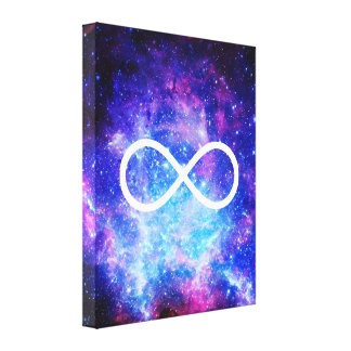 Infinity symbol nebula canvas print