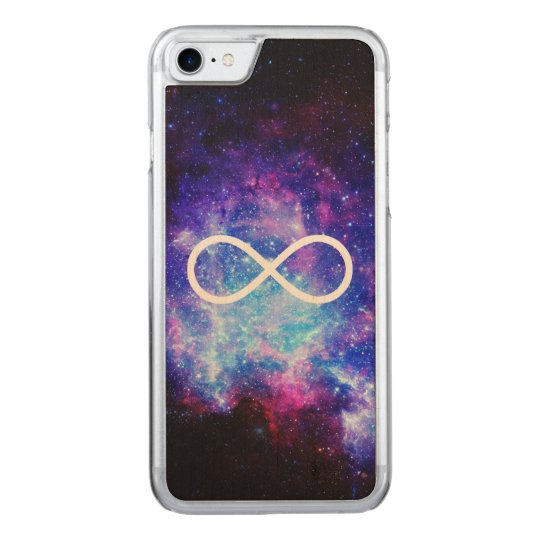 Infinity symbol nebula carved iPhone 8/7 case