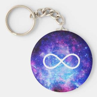 Infinity symbol nebula key ring
