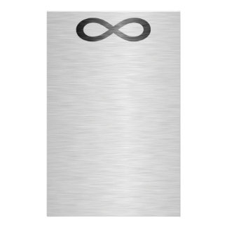 Infinity Symbol On Faux Metal Texture by STaylor Stationery
