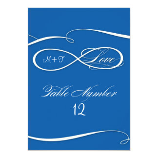 Infinity Symbol Sign Infinite Love Table Numbers Card