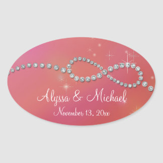 Infinity Symbol Sign Infinite Love Twinkling Light Oval Sticker