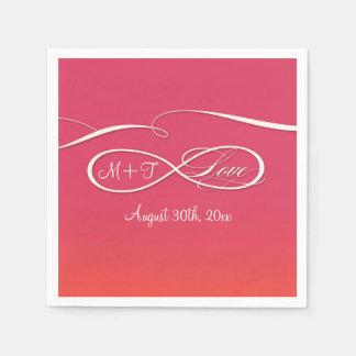 Infinity Symbol Sign Infinite Love Wedding Ombre Disposable Serviette