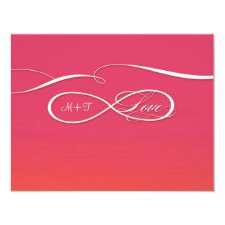 Infinity Symbol Sign Infinite Love Wedding Set 11 Cm X 14 Cm Invitation Card