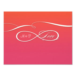 Infinity Symbol Sign Infinite Love Wedding Set 11 Cm X 14 Cm Invitation Card