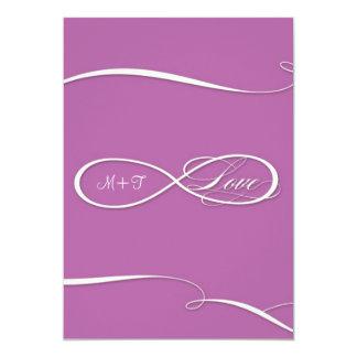 Infinity Symbol Sign Infinite Love Wedding Set 13 Cm X 18 Cm Invitation Card