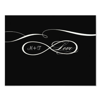 Infinity Symbol Sign Infinite Love Weddings RSVP 11 Cm X 14 Cm Invitation Card