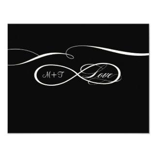 Infinity Symbol Sign Infinite Love Weddings RSVP 11 Cm X 14 Cm Invitation Card