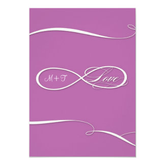 Infinity Symbol Sign Infinite Love Weddings Scroll 13 Cm X 18 Cm Invitation Card