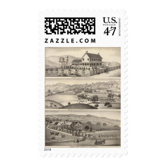 Infirmary, residences postage stamps