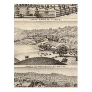 Infirmary, residences postcard
