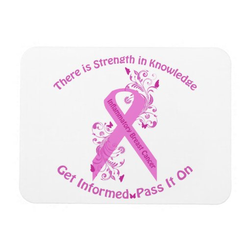 Inflammatory Breast Cancer Awareness Flexible Magnets