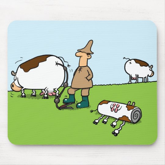 Inflatable Cows Mouse Mat