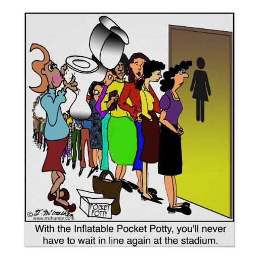 Inflatable Pocket Potty Poster