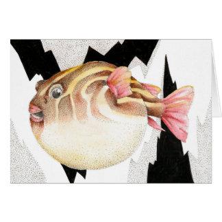 Inflated Pufferfish Greeting Card