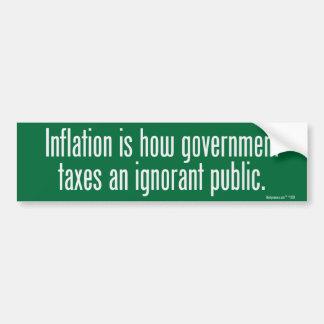 Inflation Bumper Sticker