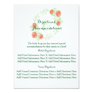 Info & Directional Cards - Floral Rose Border