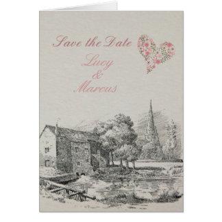 Informal Save the Date Wedding card