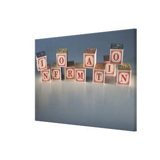 Information building blocks canvas print