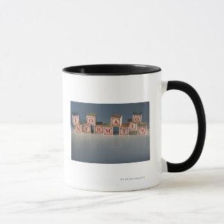 Information building blocks mug