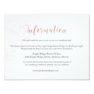Information Card Vintage Rose Pastels: Rose Quartz 11 Cm X 14 Cm Invitation Card