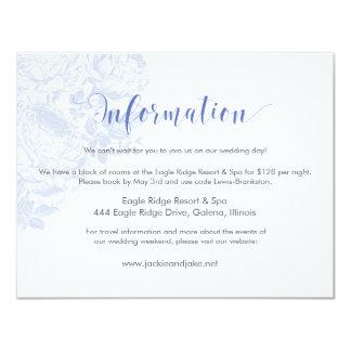 Information Card Vintage Rose Pastels: Serenity 11 Cm X 14 Cm Invitation Card