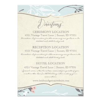 INFORMATION CARDS | Vintage Wedding Collection 11 Cm X 16 Cm Invitation Card