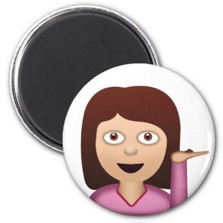 Information Desk Person Emoji 6 Cm Round Magnet
