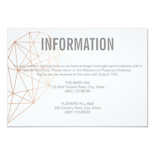 INFORMATION enclosure card | Rose Gold heart