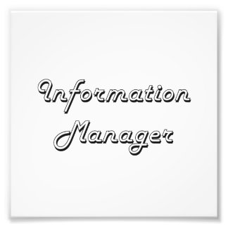 Information Manager Classic Job Design Photo Print