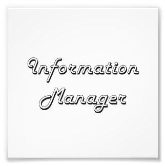 Information Manager Classic Job Design Photograph