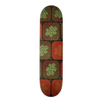 Information puzzle skateboard deck