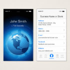 Information Technology - Cool iPhone iOS Design Business Card