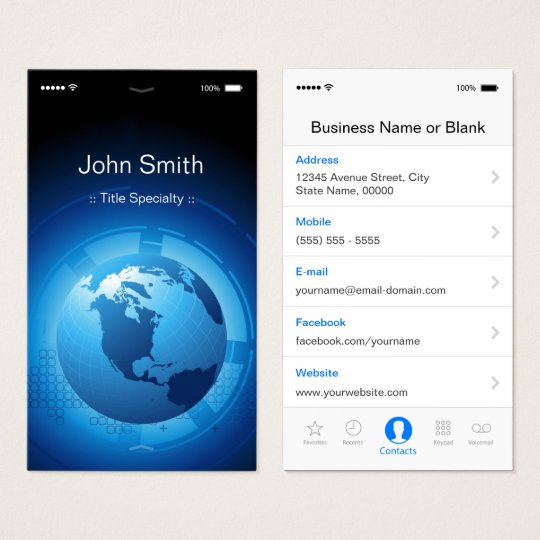 Information Technology - Cool iPhone iOS Design Business