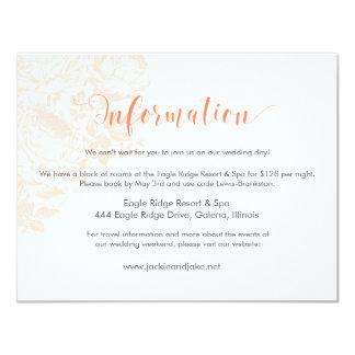 Information Vintage Rose Pastels: Peach Quartz 11 Cm X 14 Cm Invitation Card