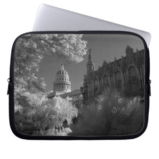 Infra red of Capitol building dome in Havana Laptop Sleeve