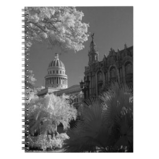 Infra red of Capitol building dome in Havana Notebook