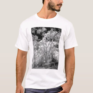Infra red of trees buildings and trails in Las 2 T-Shirt