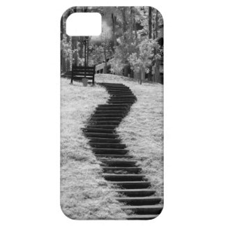 Infra red of trees buildings and trails in Las iPhone 5 Case