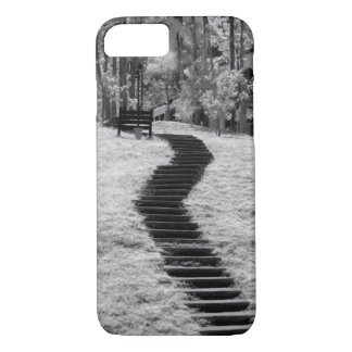 Infra red of trees buildings and trails in Las iPhone 8/7 Case